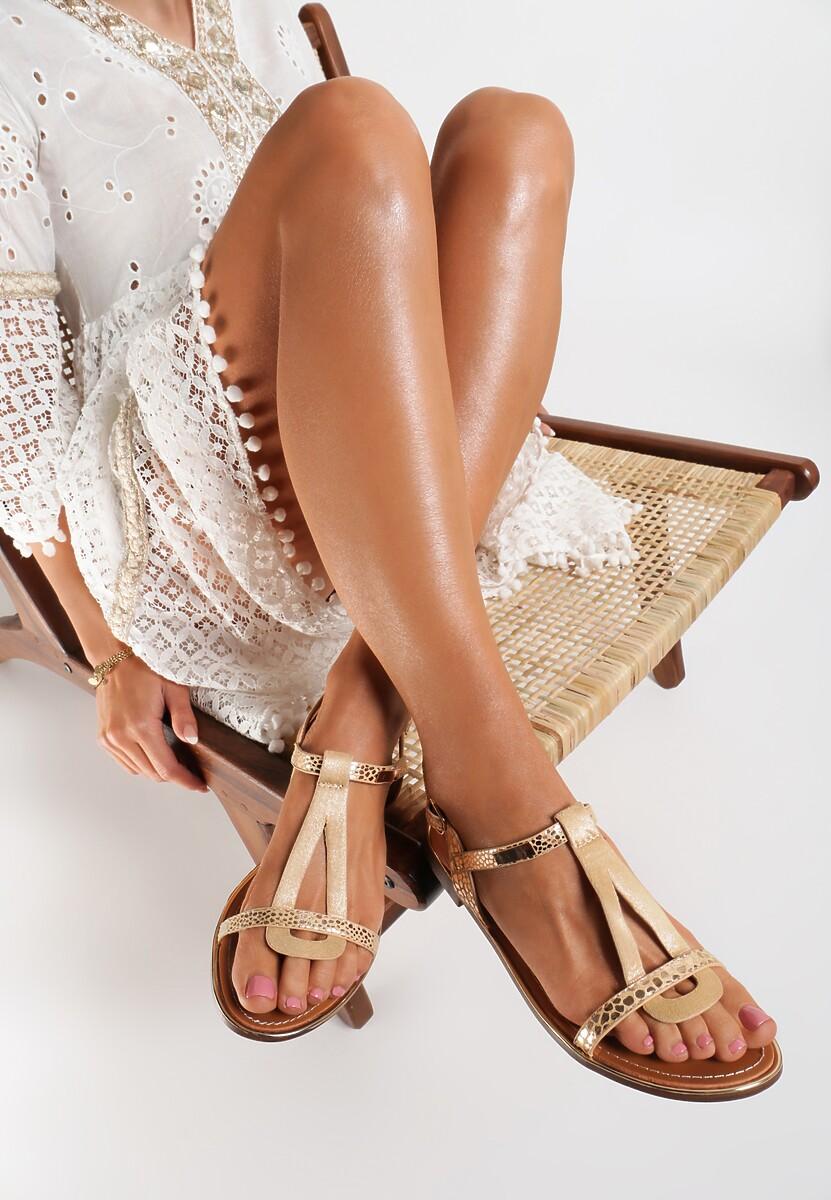 Beżowe Sandały Metipea