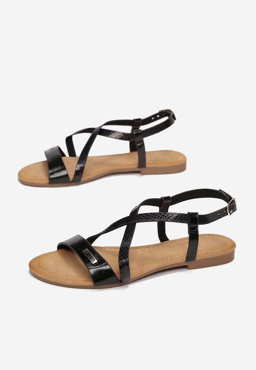 Czarne Sandały Metionore