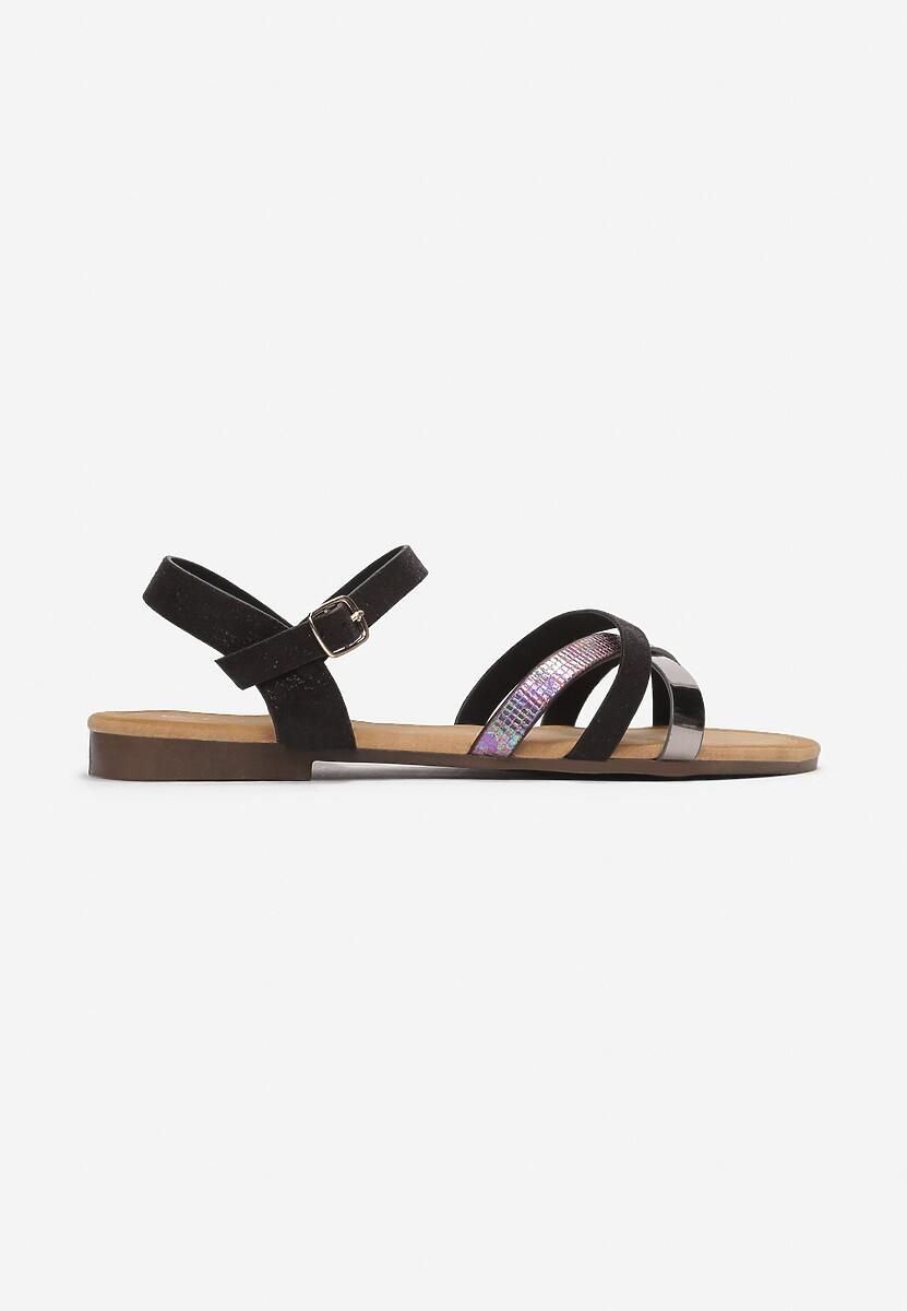 Czarne Sandały Halinella
