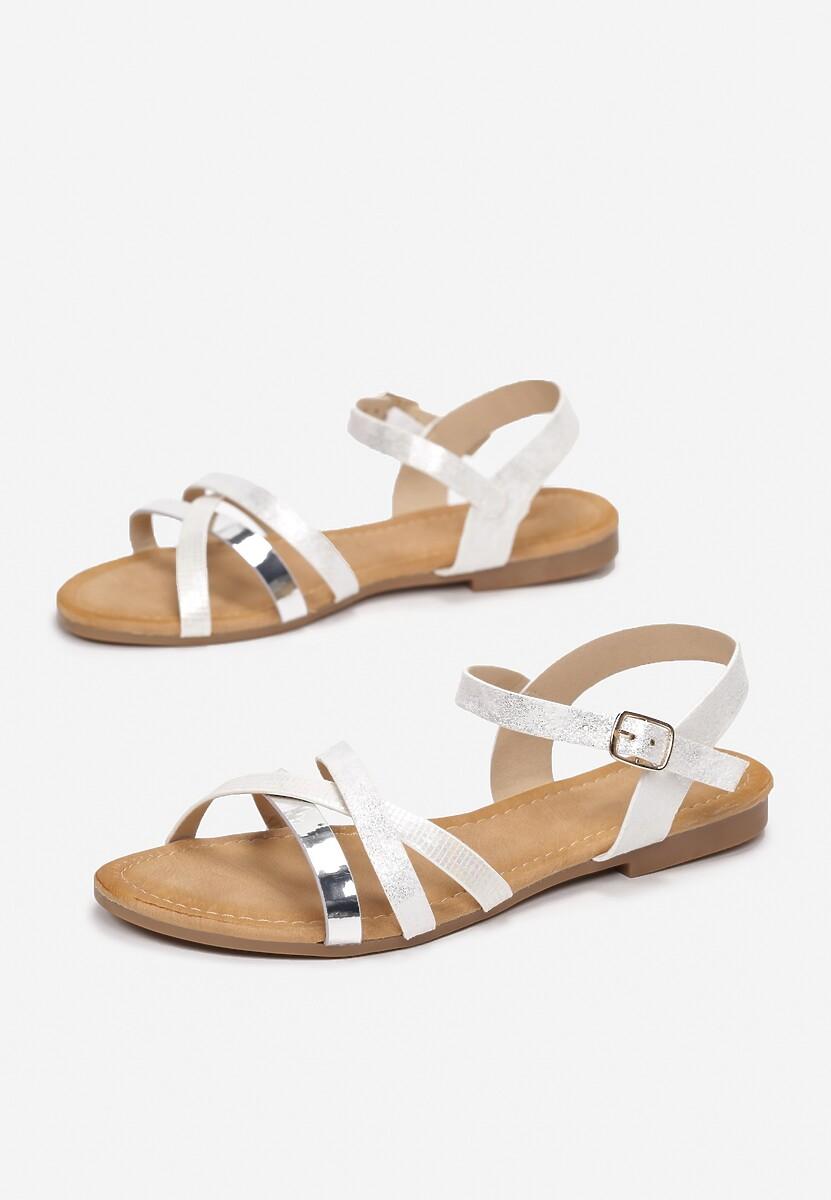 Białe Sandały Halinella