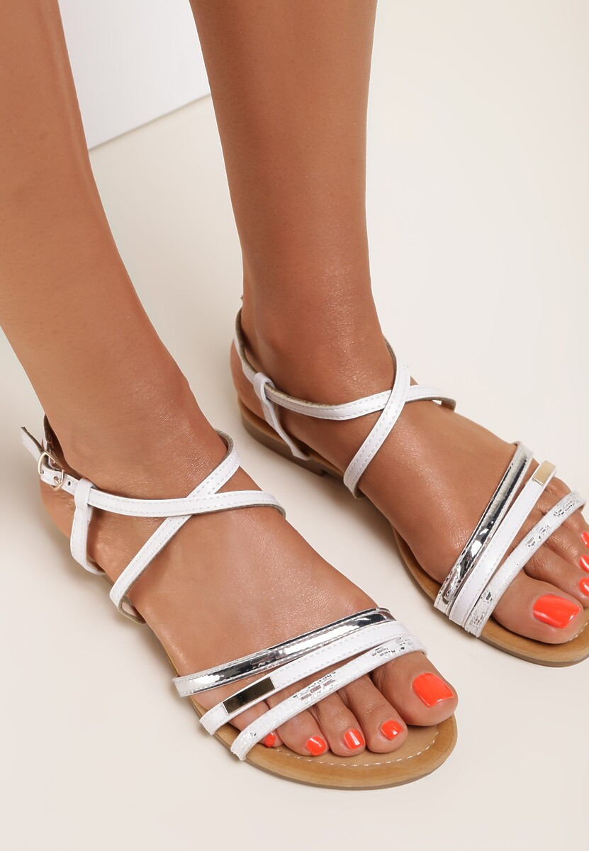 Białe Sandały Ananeva