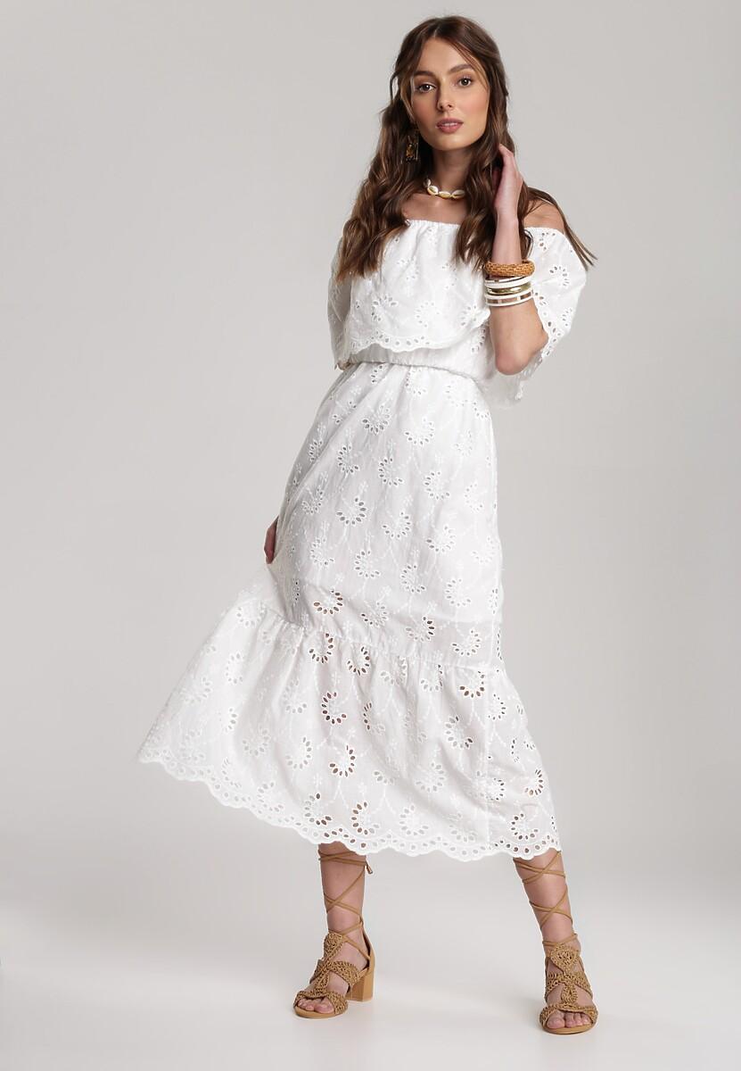 Biała Sukienka Lagurian
