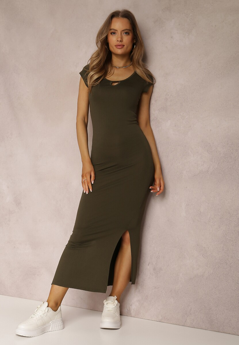 Ciemnozielona Sukienka Fiorenza