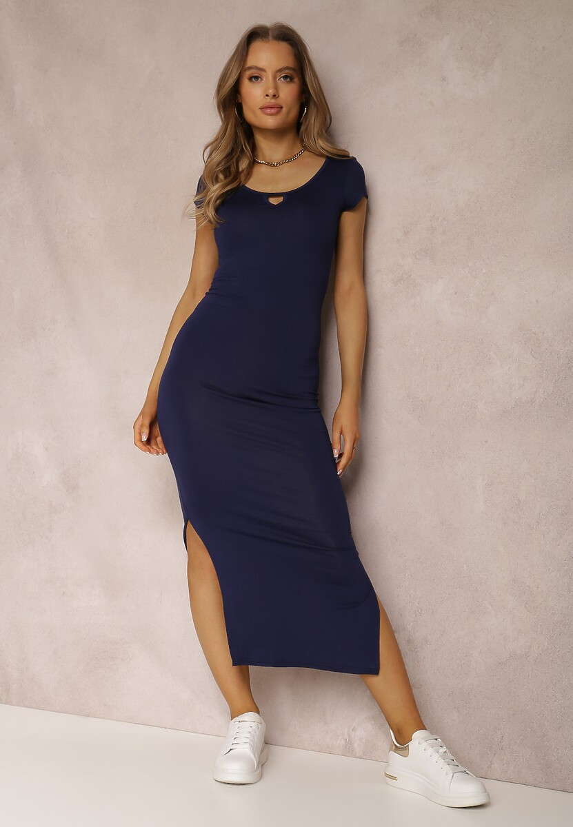 Granatowa Sukienka Fiorenza
