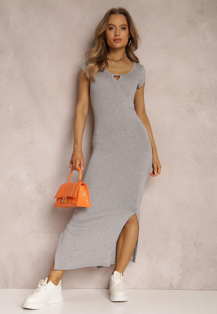 Szara Sukienka Fiorenza