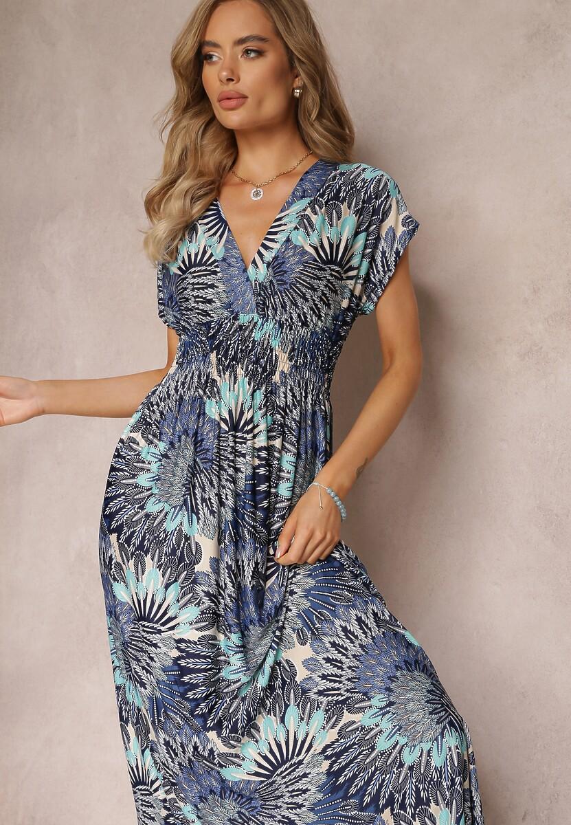 Granatowo-Niebieska Sukienka Himellia