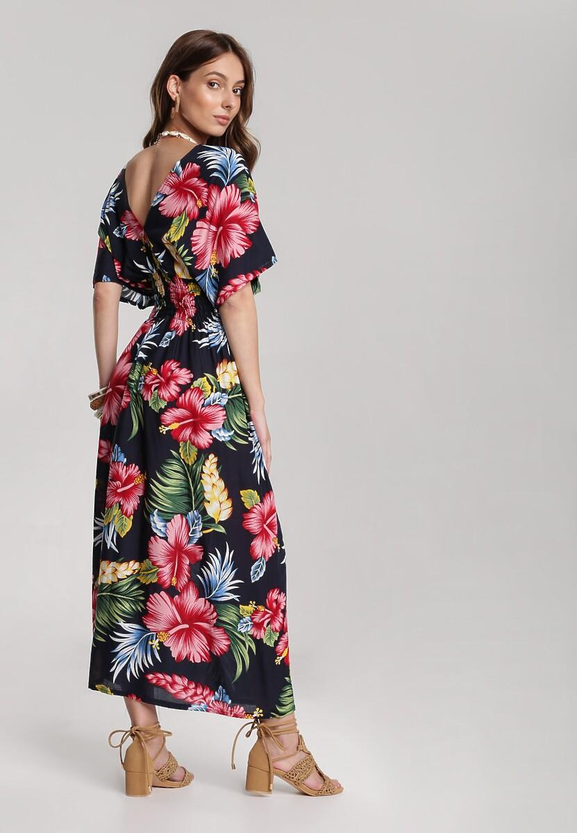 Granatowa Sukienka Naririel