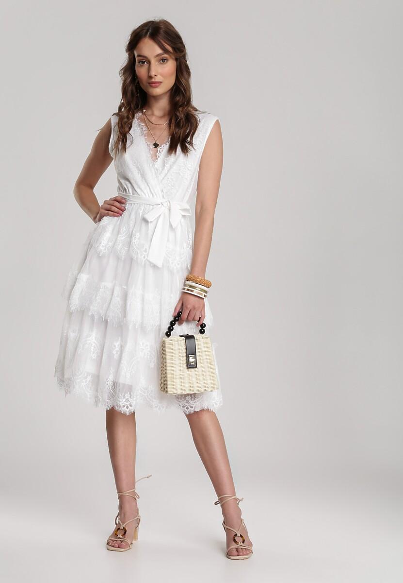 Biała Sukienka Shelis