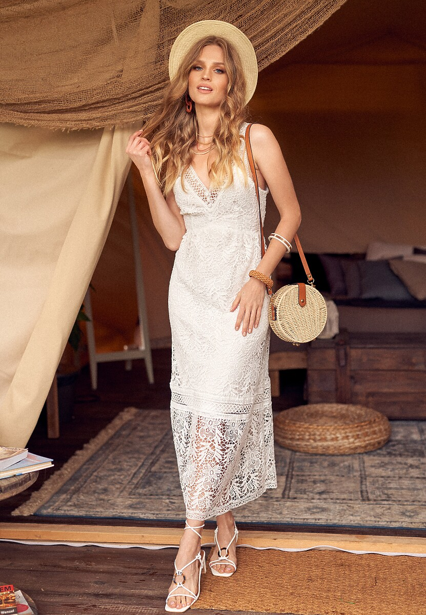 Biała Sukienka Viviamara