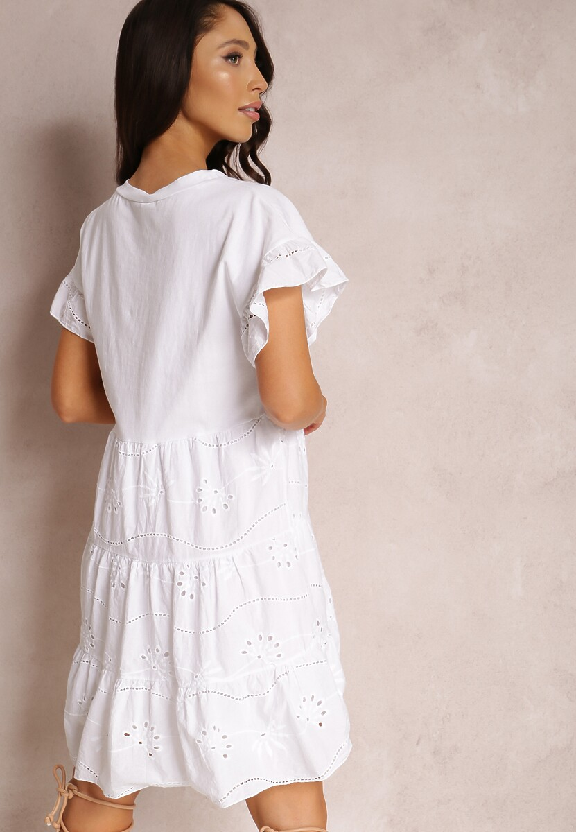 Biała Sukienka Corralle