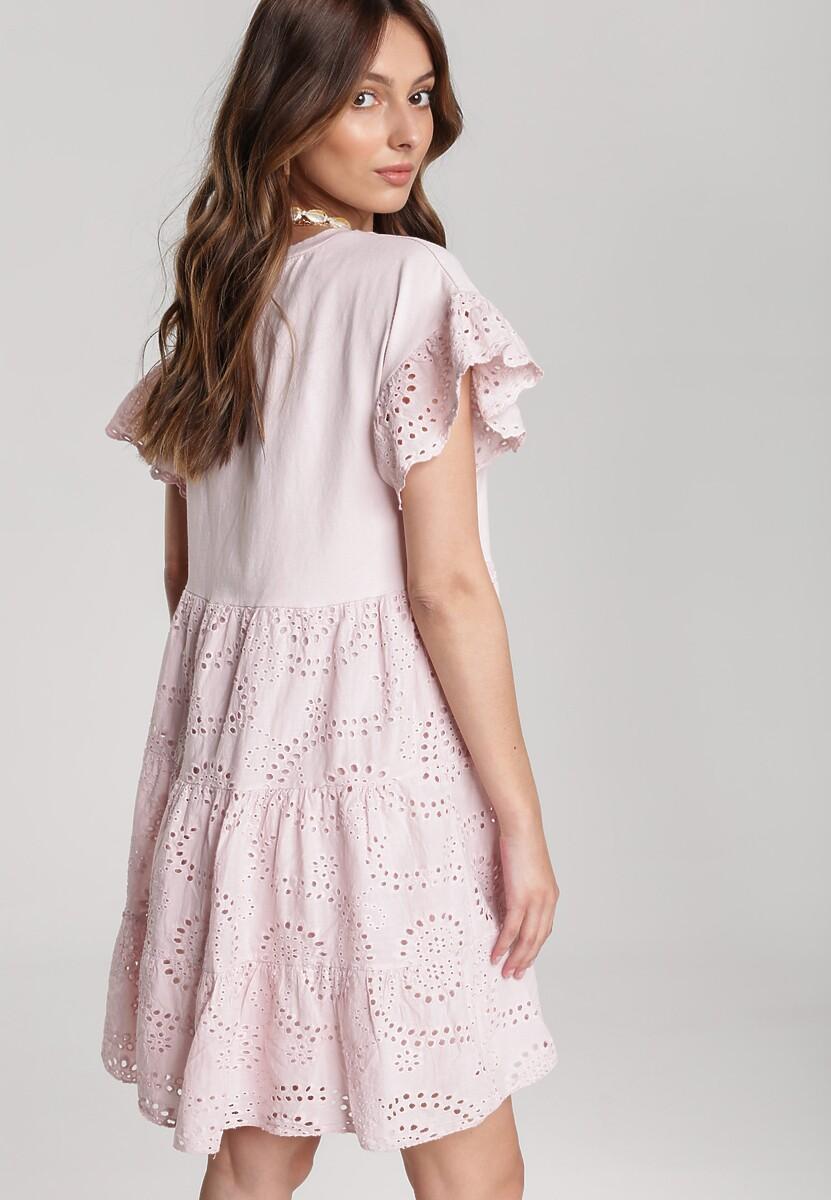 Jasnoróżowa Sukienka Corralle