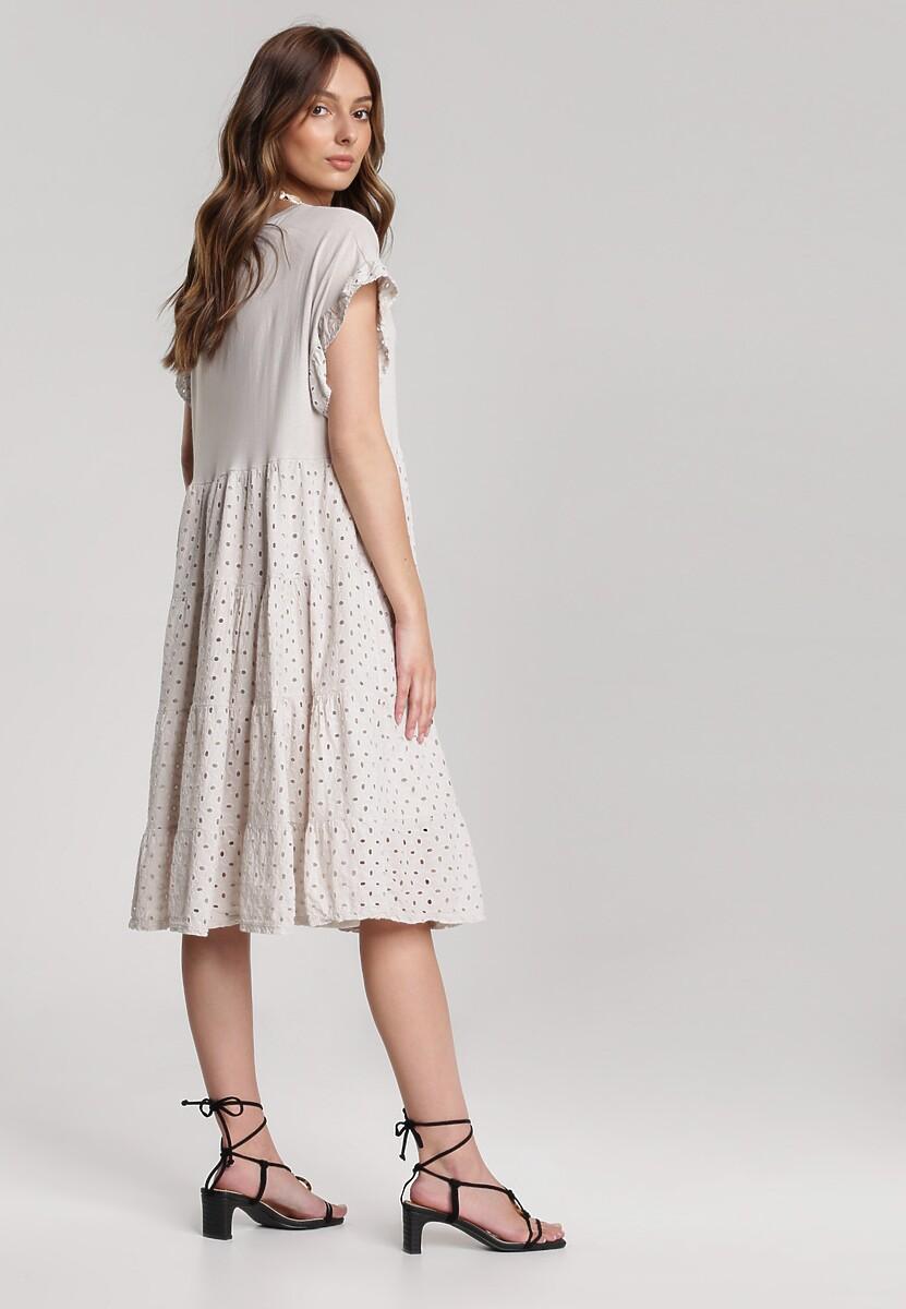 Jasnobeżowa Sukienka Rhesise
