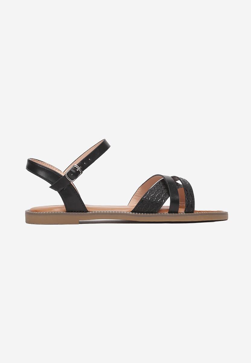 Czarne Sandały Salosis