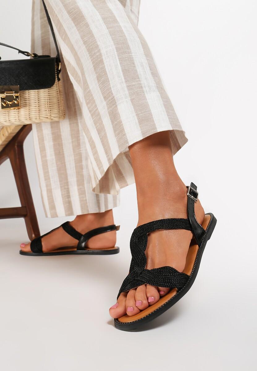 Czarne Sandały Thevia