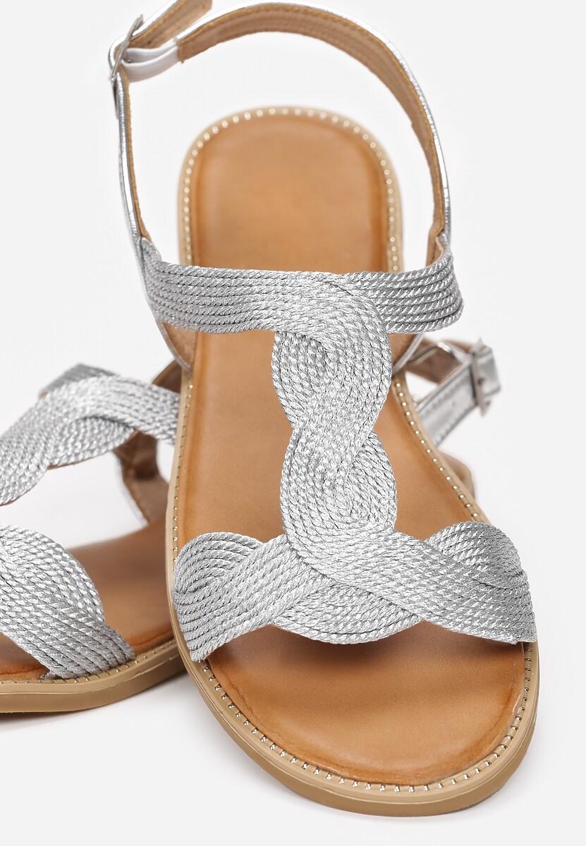 Srebrne Sandały Thevia