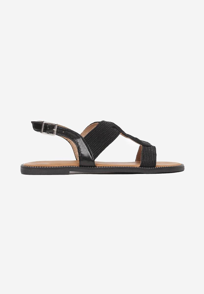 Czarne Sandały Adrienna