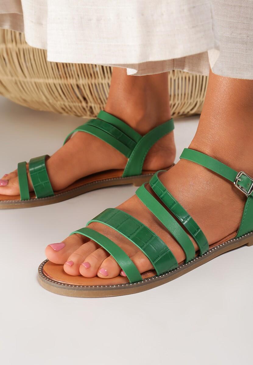 Zielone Sandały Jennirith