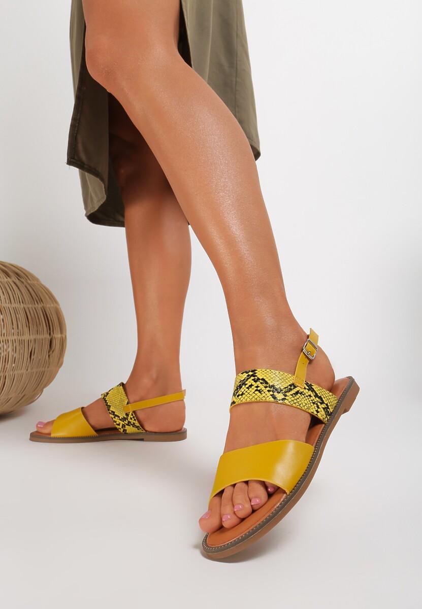Żółte Sandały Loreris