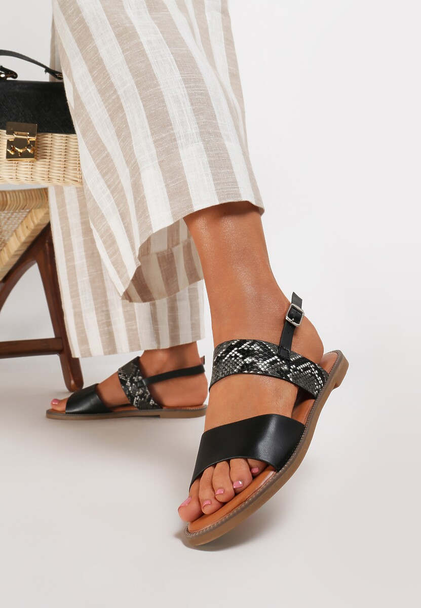 Czarne Sandały Loreris
