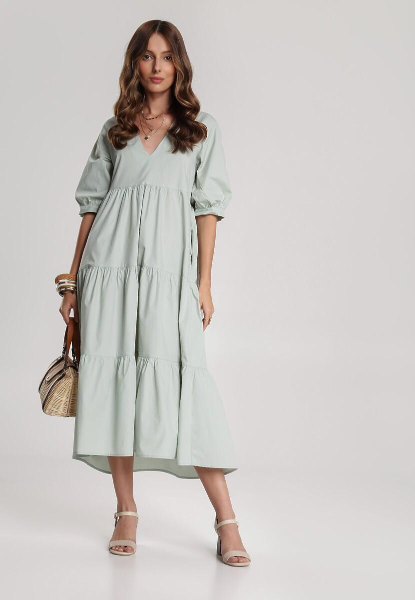 Miętowa Sukienka Schuyler