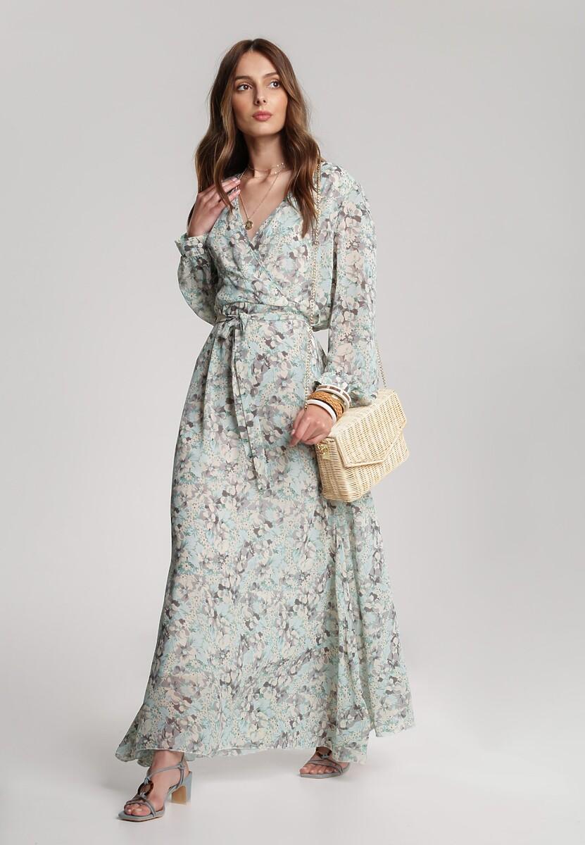 Miętowa Sukienka Guinerinias