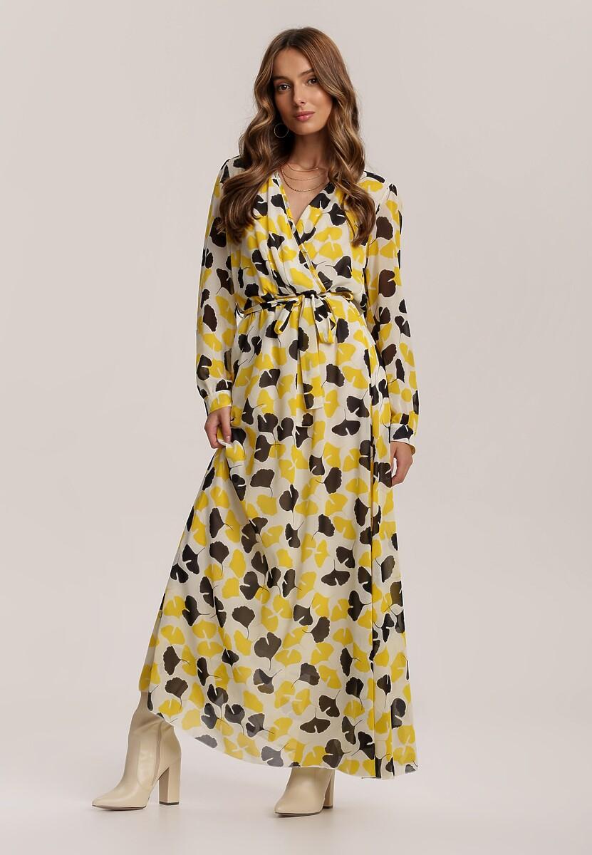 Żółto-Czarna Sukienka Guinerinias