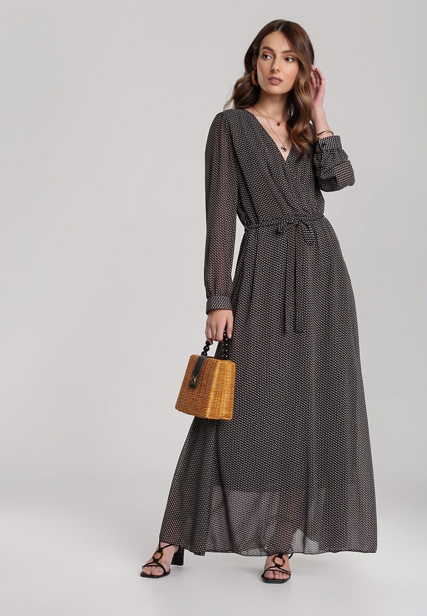 Czarno-Brązowa Sukienka Guinerinias