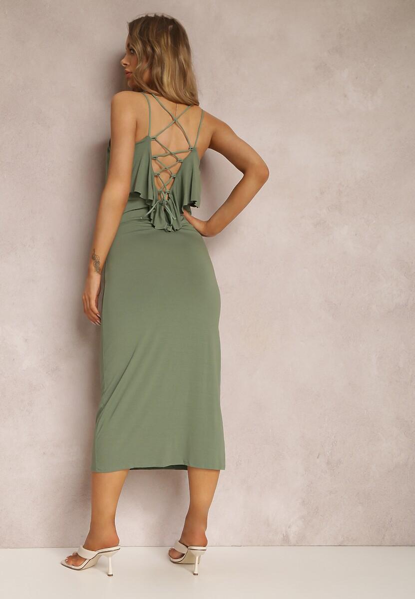 Ciemnozielona Sukienka Hyrah
