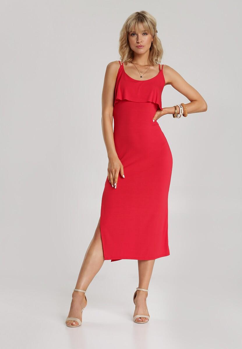 Czerwona Sukienka Hyrah