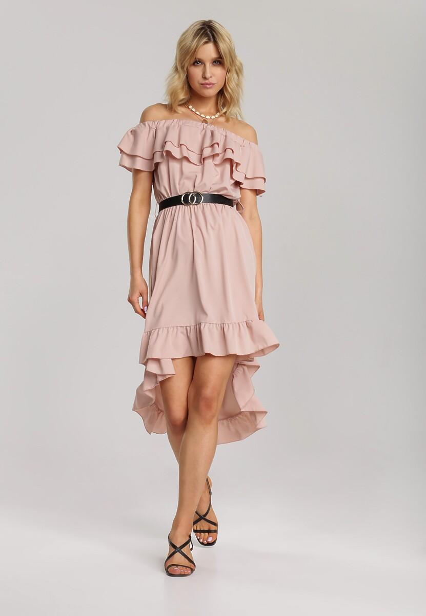 Różowa Sukienka Elilophi