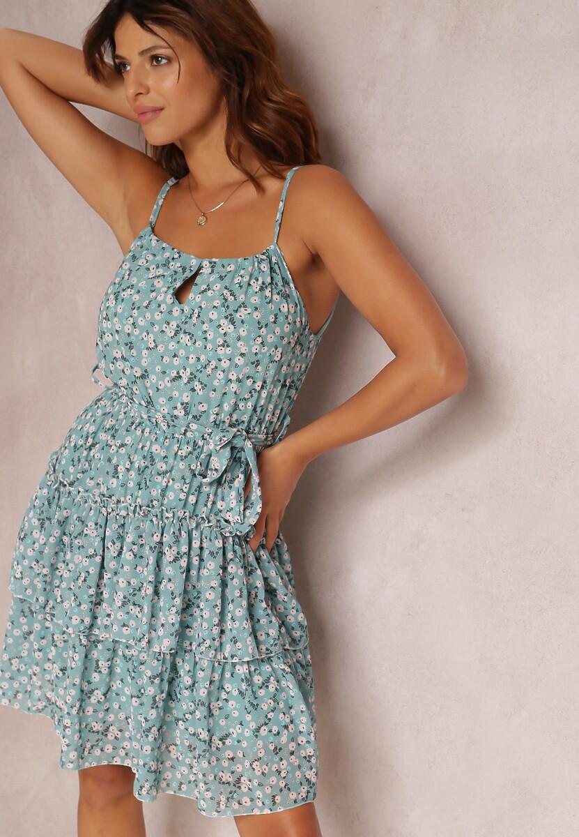 Niebieska Sukienka Vivilia