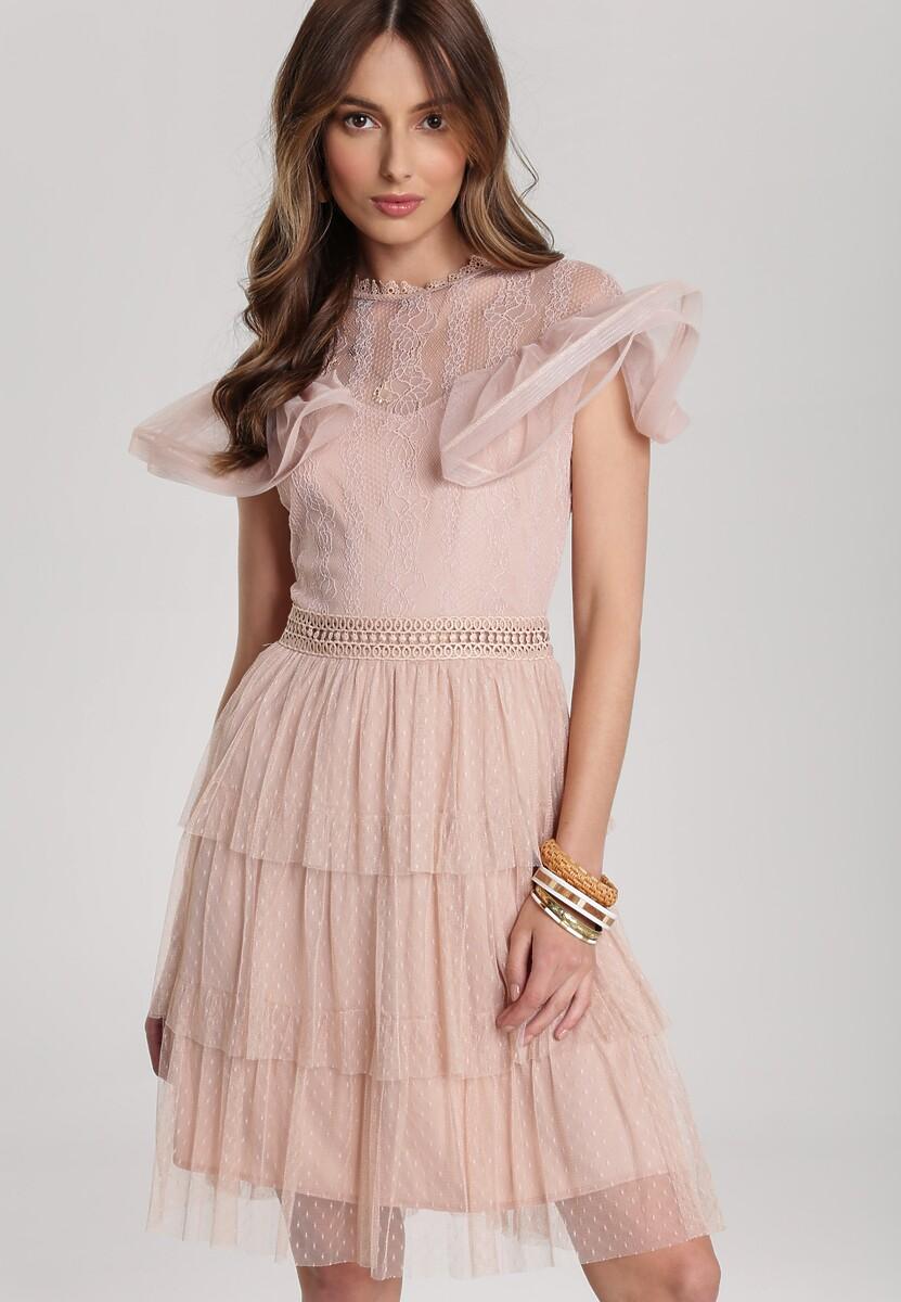 Jasnoróżowa Sukienka Eathelyn