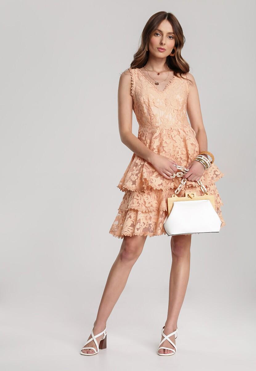 Łososiowa Sukienka Amarinda