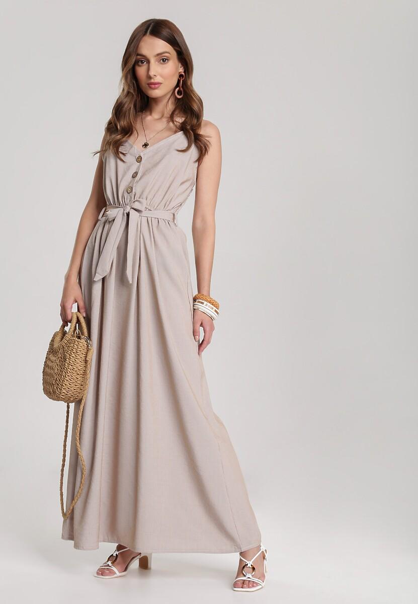 Ciemnobeżowa Sukienka Ciriteia