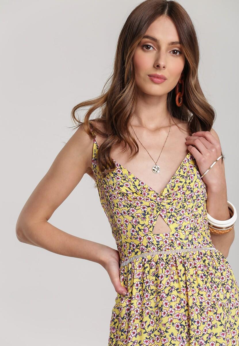 Żółta Sukienka Aerenore