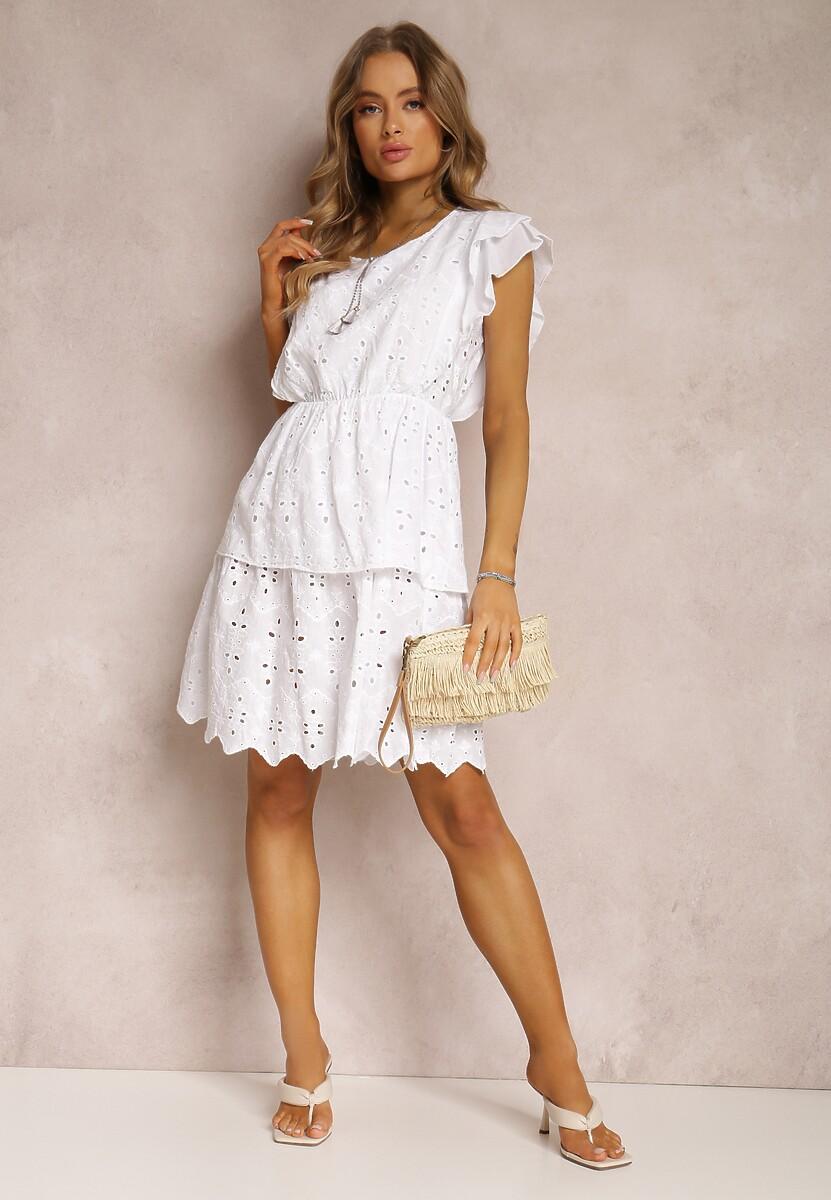 Biała Sukienka Vivietune