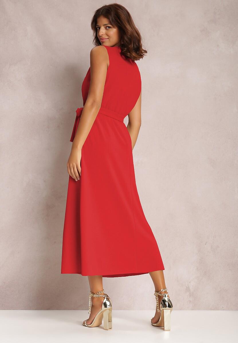 Czerwona Sukienka Limoronis