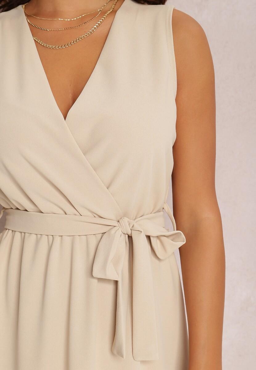 Beżowa Sukienka Limoronis