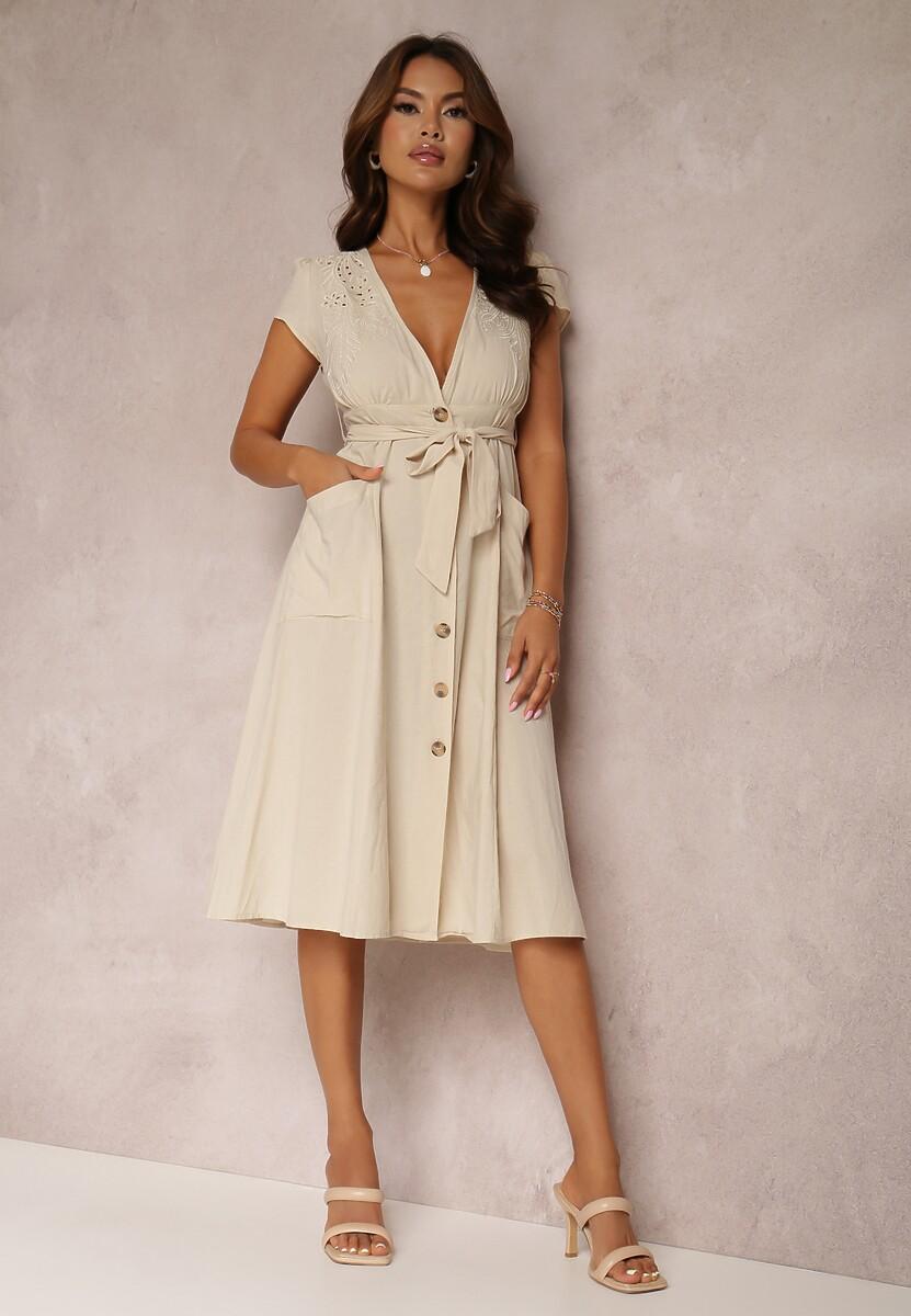 Jasnobeżowa Sukienka Eluronis