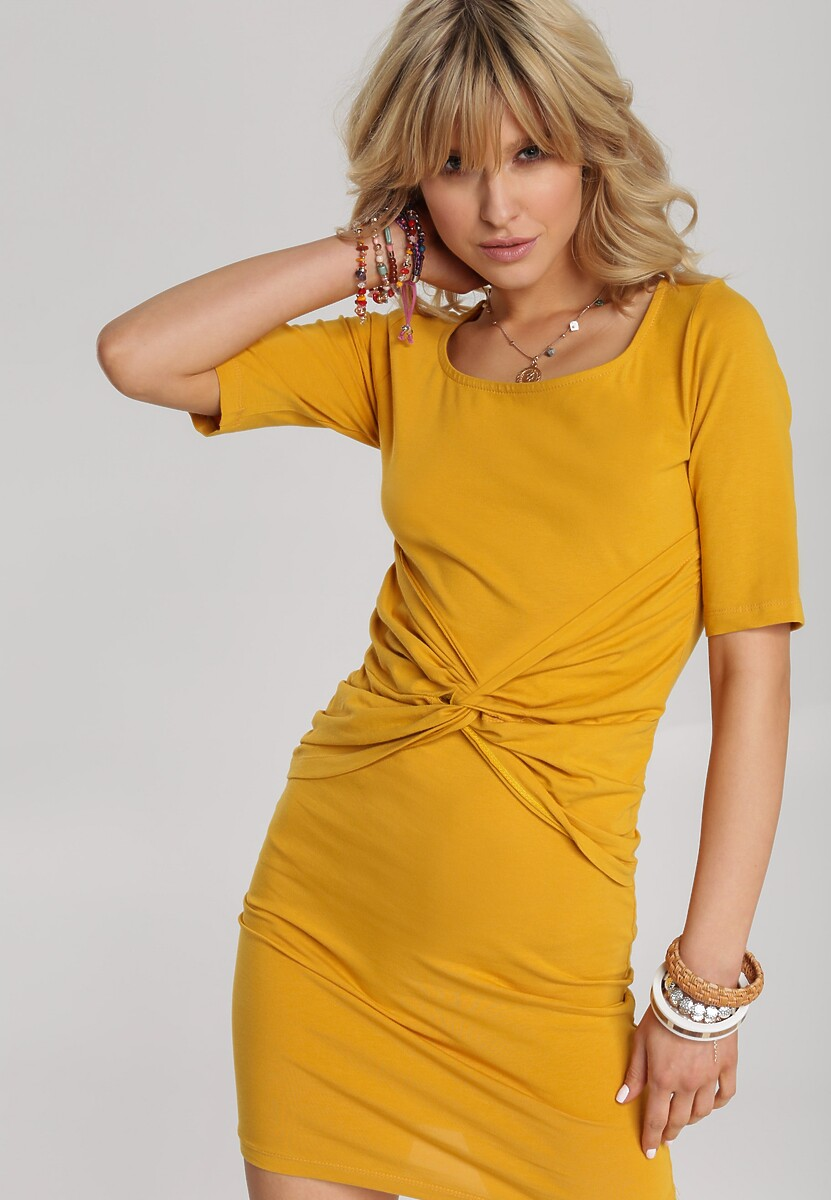 Żółta Sukienka Melonna