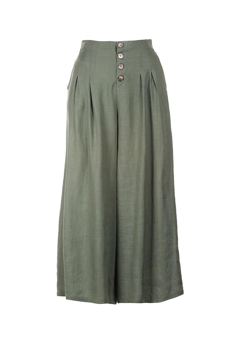 Ciemnozielone Spodnie Amaliphis