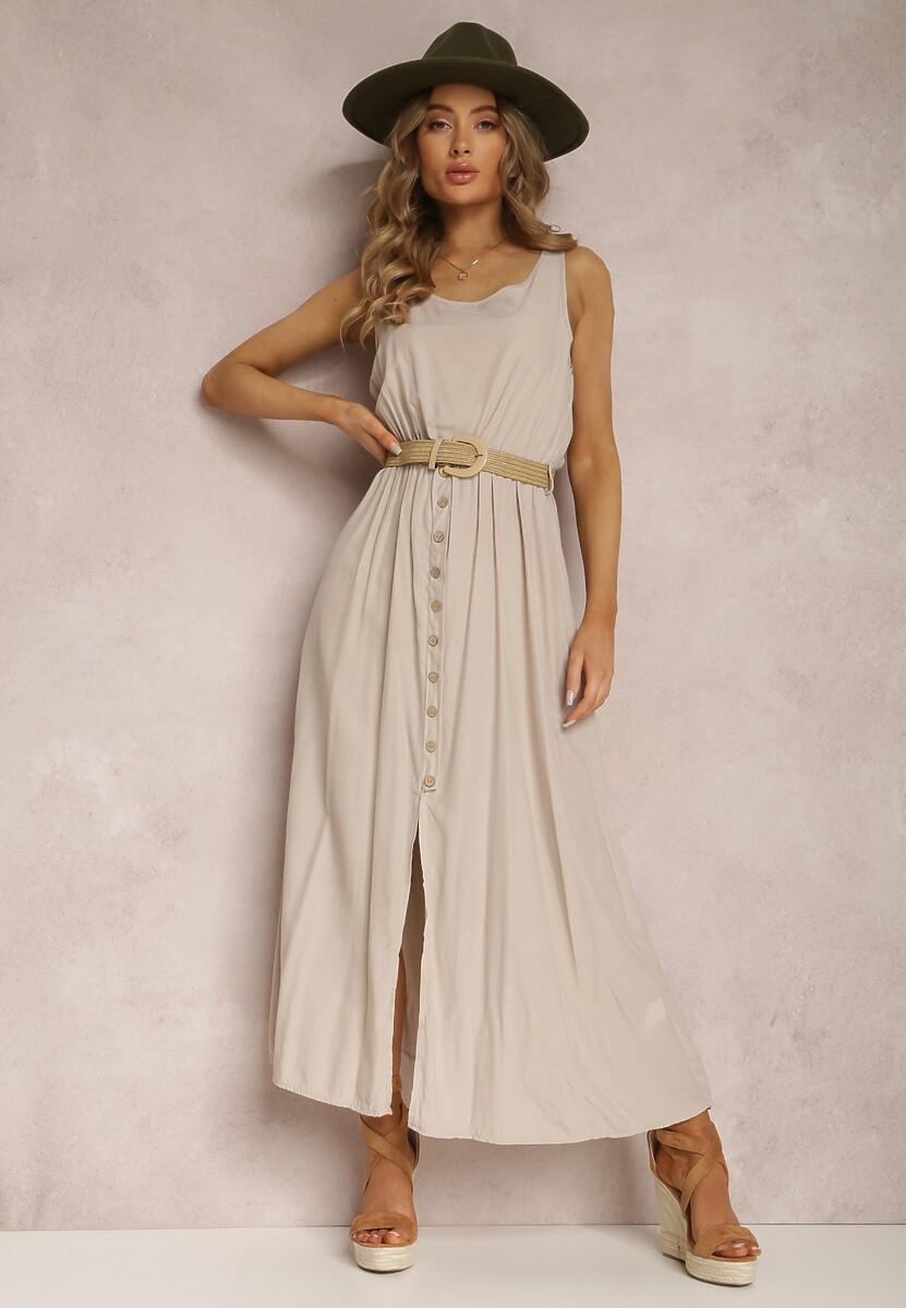 Jasnobeżowa Sukienka Loraeshell