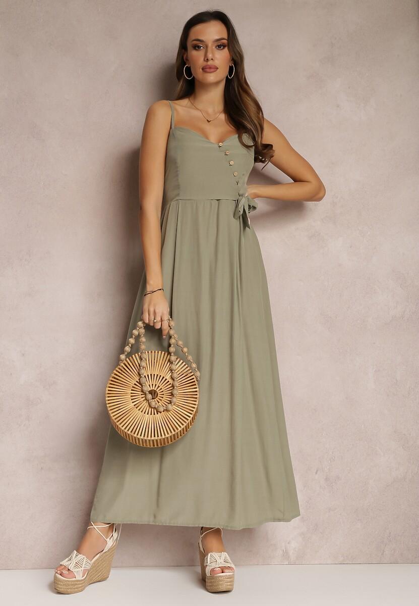 Ciemnozielona Sukienka Pallepheu