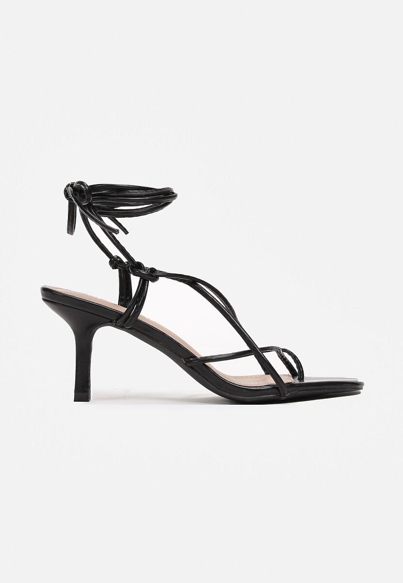 Czarne Sandały Zelimeni
