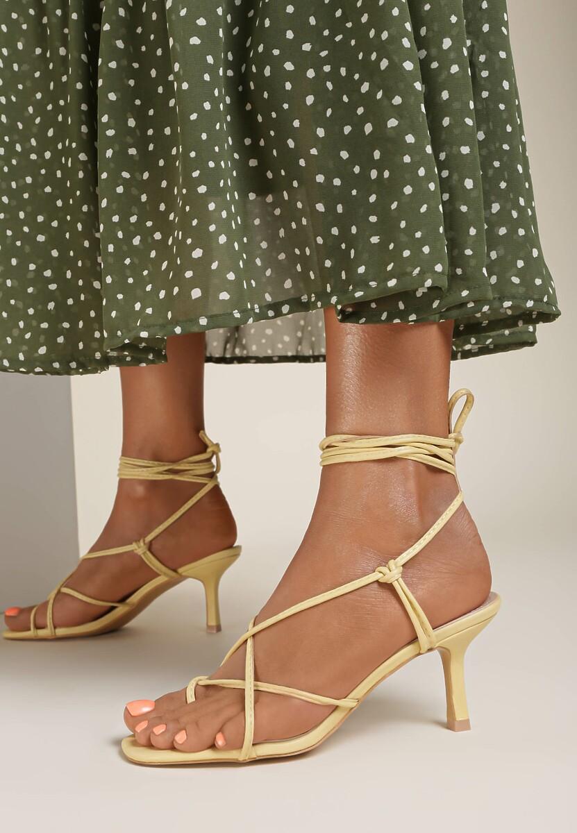 Żółte Sandały Zelimeni