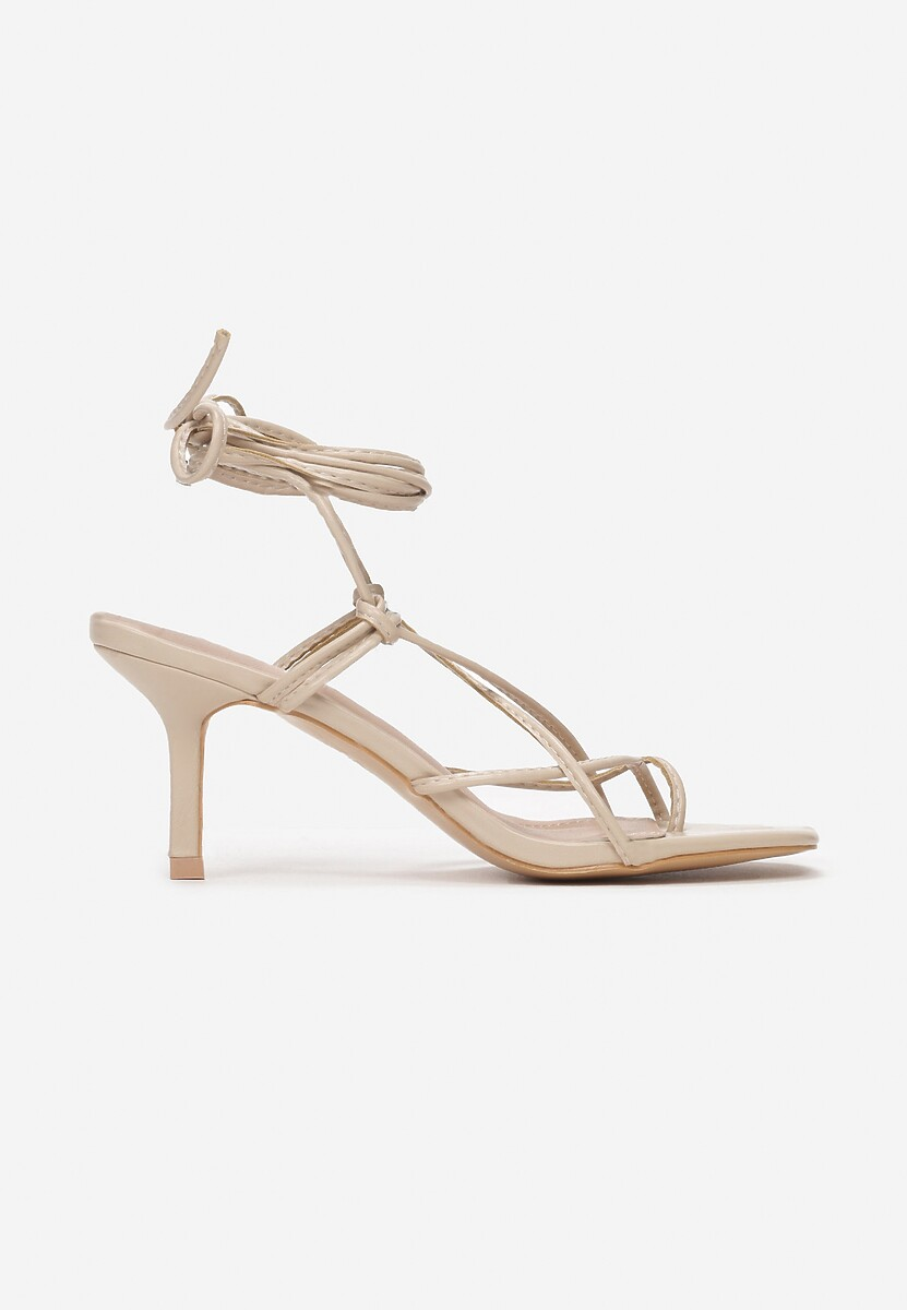 Beżowe Sandały Zelimeni