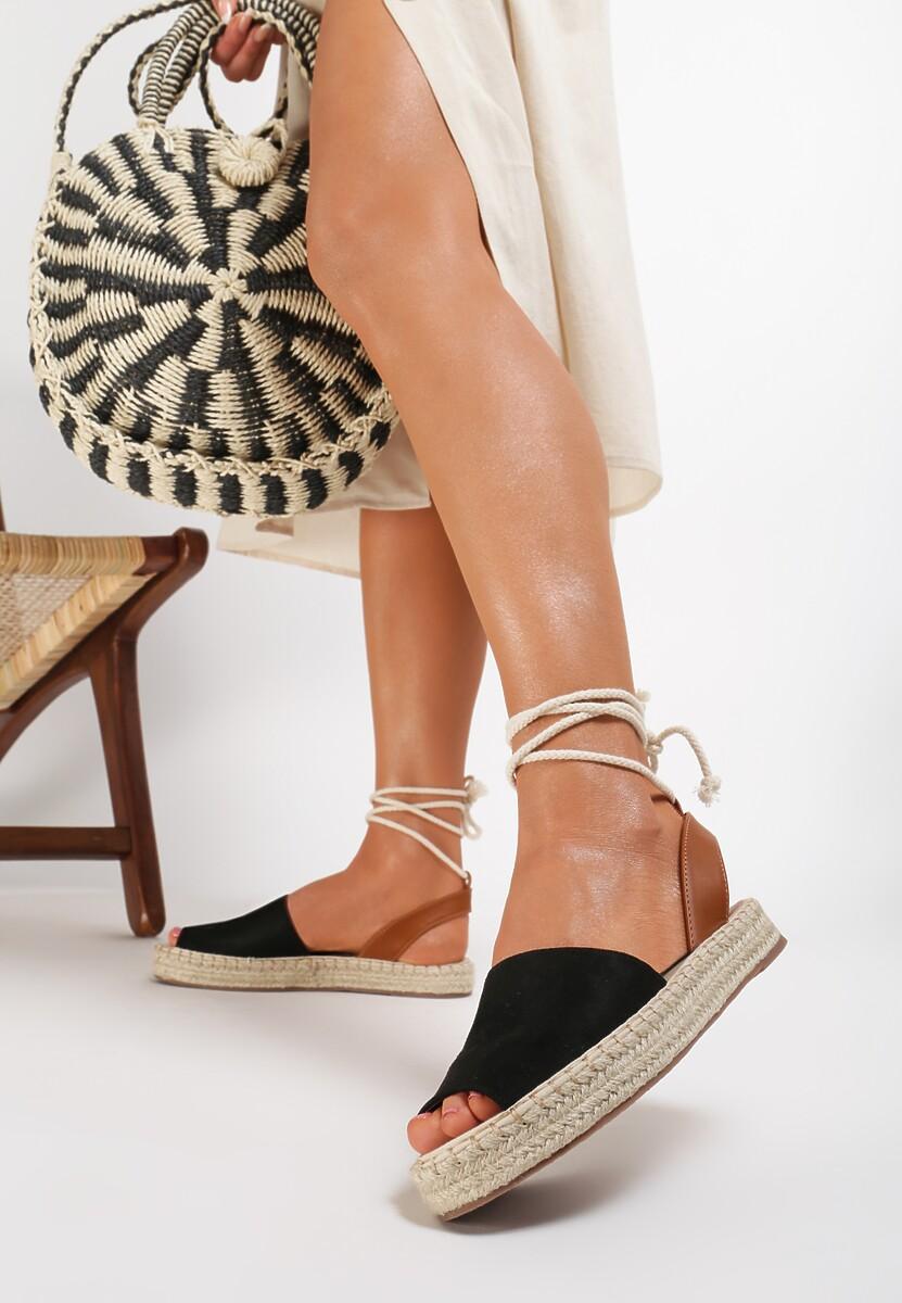 Czarne Sandały Lilinai