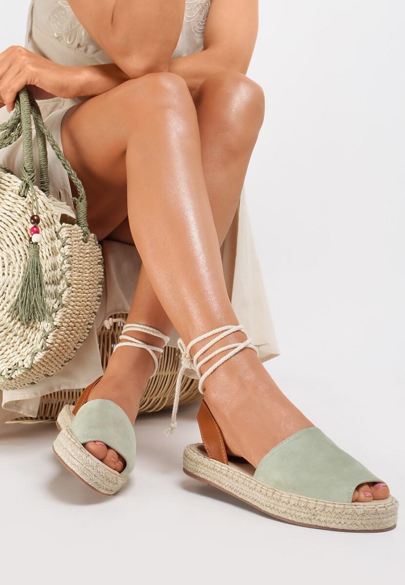 Miętowe Sandały Lilinai