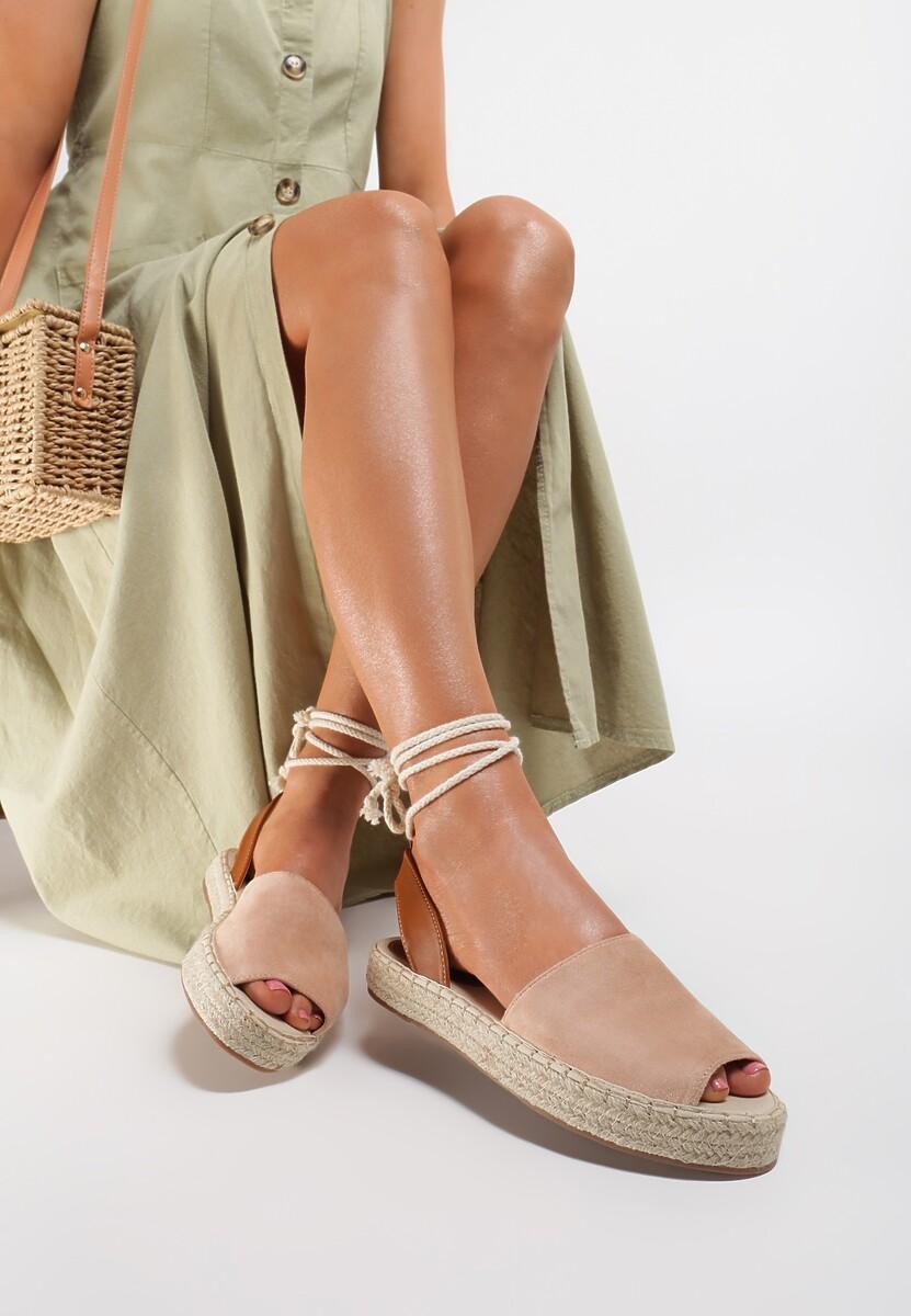Beżowe Sandały Lilinai