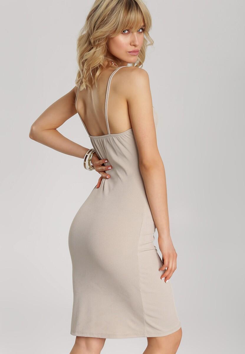 Beżowa Sukienka Aethelura